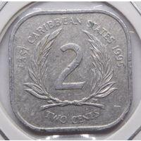Восточные Карибы 2 цента 1995 г.
