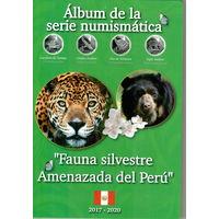 Альбом для монет Перу Серия Фауна Перу на 10 монет