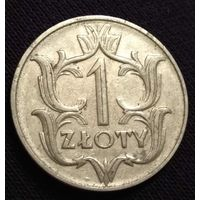 1 злотый 1929  Rzeczpospolita Polska 1929