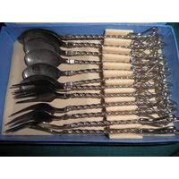 Набор десертный 6 ложек и 6 вилок