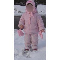 Р.104 Зимний комбез и куртка Kangaroos, светло-розовый, очень удобный