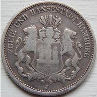 30. Гамбург 2 марки 1876 год*