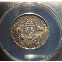Австралия флорин 1925 (серебро) AU53