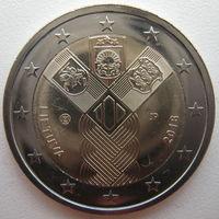 Литва 2 евро 2018 г. 100 лет государствам Балтики