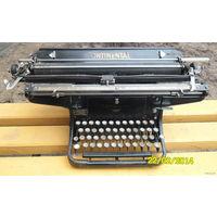 """Печатная машинка """"Continental"""". Вес 19.5 кг. Стационарная, профессиональная, большая . Германия, 20-тые годы прошлого века."""