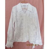 Блуза девичья новая(белая,р.68,рост 134)-к 1 сентября,очень красивая!