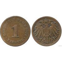 YS: Германия, Рейх, 1 пфенниг 1900A, KM# 10 (1)