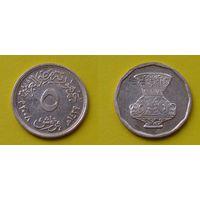 Египет 5 пиастр 2008г. покрытие медь