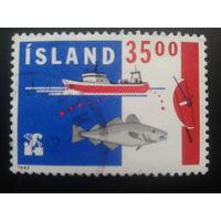 Исландия 1992 корабль, рыба