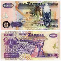 Замбия. 100 квача (образца 2005 года, P38e, XF)