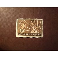 Британский протекторат Ньясаленд 1938 г.Георг VI и леопард.