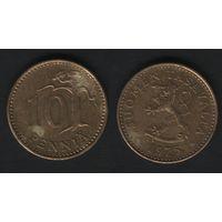 Финляндия km46 10 пенни 1975 год (S) (f33)(b04)n