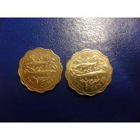 Багамские острова 10 центов 1980, 2000 г.г-цена за монету