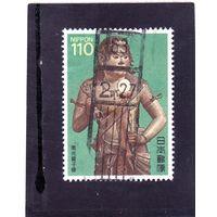 Япония. Mi:JP 1770. Статуя Ekue, Храм Kongоbu, 1197, Mt Kоya. Серия: Национальные сокровища - 3. 1988.