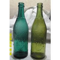 """Две старые фигурные пивные бутылки """"Минску 900 лет"""". Клеймо. Цена за пару."""