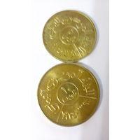 Йемен 5, 10 филсов, набор из 2 монет 1974, Арабская Республика Йемен