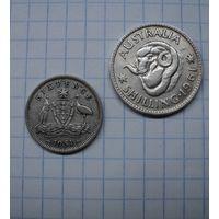 Небольшой сборный лот австралийского серебра разных периодов