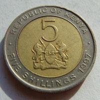 Кения 5 шиллингов 1997 г