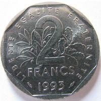 1k Франция 2 франка 1993 Мулен В ХОЛДЕРЕ распродажа коллекции