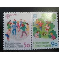 Лихтенштейн 1989 Европа, игры детей полная