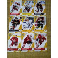 9 карточек 11 сезона КХЛ одним лотом.