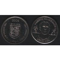 Official England Squad. Defender. Gareth Southgate -- 2004 England - The Official England Squad Medal Collection (f01)