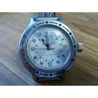 Часы Восток Амфибия. Механизм 2424. Полярные, суточные. Довольно редкие.