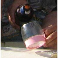СТАКАН набор стаканов из тонкого стекла в пластмассовом подстаканнике. Как на фото.