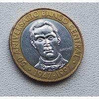 Доминикана 5 песо, 1997 50 лет Центробанку 1-3-23