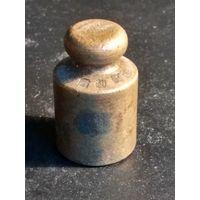 Гиря старая Польша 200 гр., бронза латунь, гирька торговая аптечная, клейма, (15)