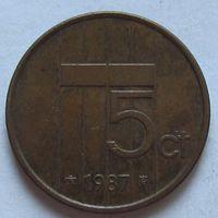 Нидерланды, 5 центов 1987 г