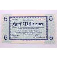 Германия (Dresden), 5 000 000 марок 1923 год, aUNC.