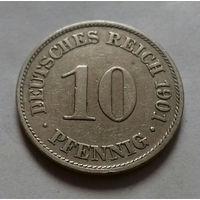 10 пфеннигов, Германия 1901 A