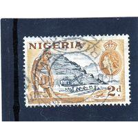 Нигерия. Британские колонии.Ми-74. Использование олова - желтая охра.1953.