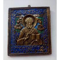 Икона Николай Чудотворец. 6 цветов эмали. Доставка в Минск - БЕСПЛАТНО!!!
