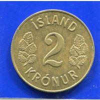 Исландия 2 кроны 1963
