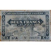 Алжир 2 франка 1944г