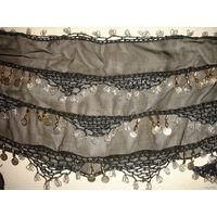 Оригинальный шаль платок Пояс для восточных танцев танца живота с монетками привезён из Египта