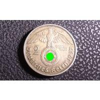 2 марки 1937 А. Германия. Серебро 0.625.
