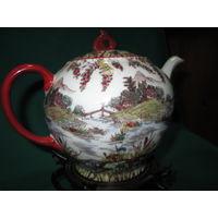 Чайник заварник Япония 50-е года ручная роспись.