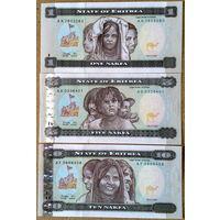 Эритрея 1-10 накфа 1997г -UNC-