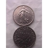 1 франк франции 1972г.  распродажа
