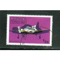 Гренада и Гренадины. Ми-186. Авиация.Самолет Апачи.1976.