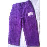 Р.80 классные штанишки, штроксовые, фиолетовые