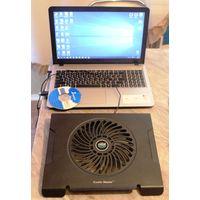 W: Кулер рабочий большой для всего корпуса, подставка для ноутбука, вентилятор охлаждение, размер 32 х 30 см, Б/У