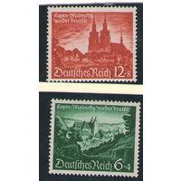 3 рейх Замки 1940 год чистая полная серия из 2-х марок