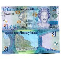 Каймановы острова 1 доллар 2010 UNC