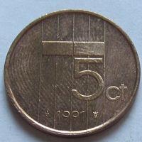 Нидерланды, 5 центов 1991 г