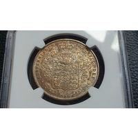 Англия 1/2 кроны 1826 год (серебро) AUNS