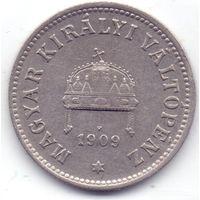 Венгрия, 10 филлеров 1909 года.